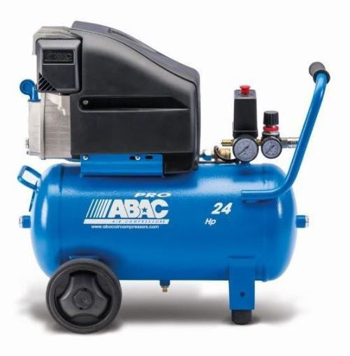 1129100173 ABAC Pole Position Compressor L30P - Lubricated - Single Phase Portable Piston