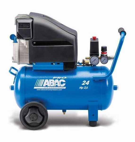 1129100227 ABAC Pole Position Compressor L25P - Lubricated - Single Phase Portable Piston