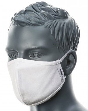 PORTWEST CV21 3 PLY FABRIC FACE MASK REUSABLE/WASHABLE