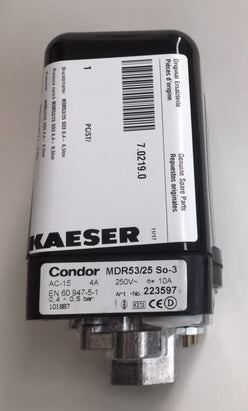 20702190 OEM HPC KAESER PRESSURE SWITCH .04/.05 BAR 7.0219.0 CONDOR MDR53/25 223597