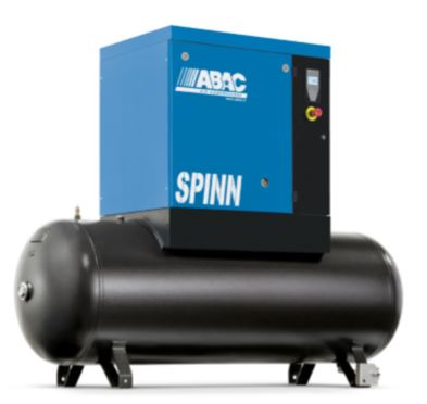 ABAC SPINN 11kW 8Bar 15HP 270Ltr Compressor, Receiver Mounted