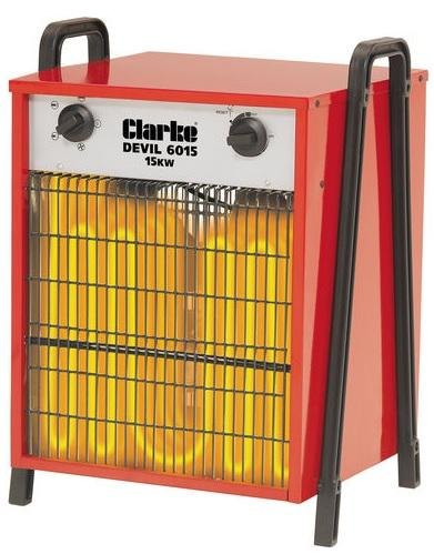 6925235 Clarke Devil 6015 Industrial 15KW Electric Fan Heater (3Ph)