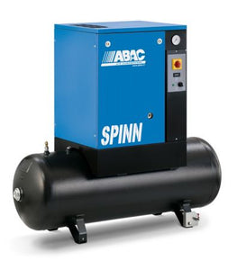 ABAC SPINN 3kW 10Bar 4HP 200Ltr Compressor, Receiver Mounted
