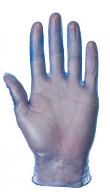 VINYL GLOVES BLUE/CLEAR POWDERED NON POWDERED MEDIUM LARGE EXTRA LARGE