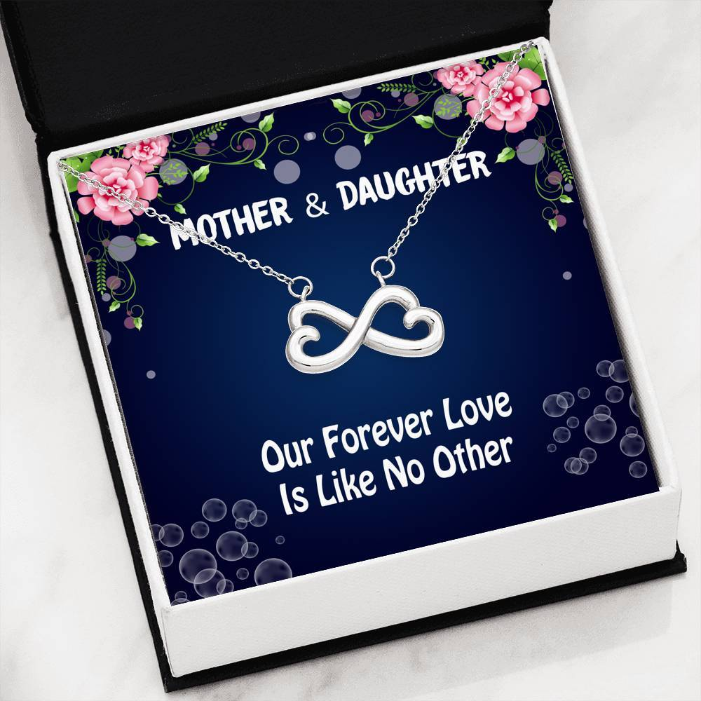 ShineOn Fulfillment Jewelry 14k White Gold Finish Love Like No Other Infinity Necklace