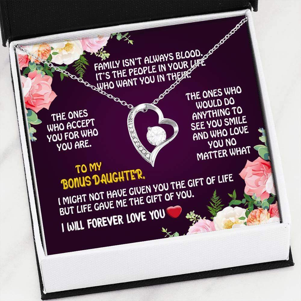 ShineOn Fulfillment Jewelry 14k White Gold Finish Love No Matter What Forever Necklace