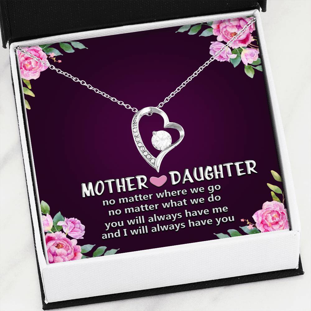 ShineOn Fulfillment Jewelry 14k White Gold Finish Mother and Daughter Forever Love
