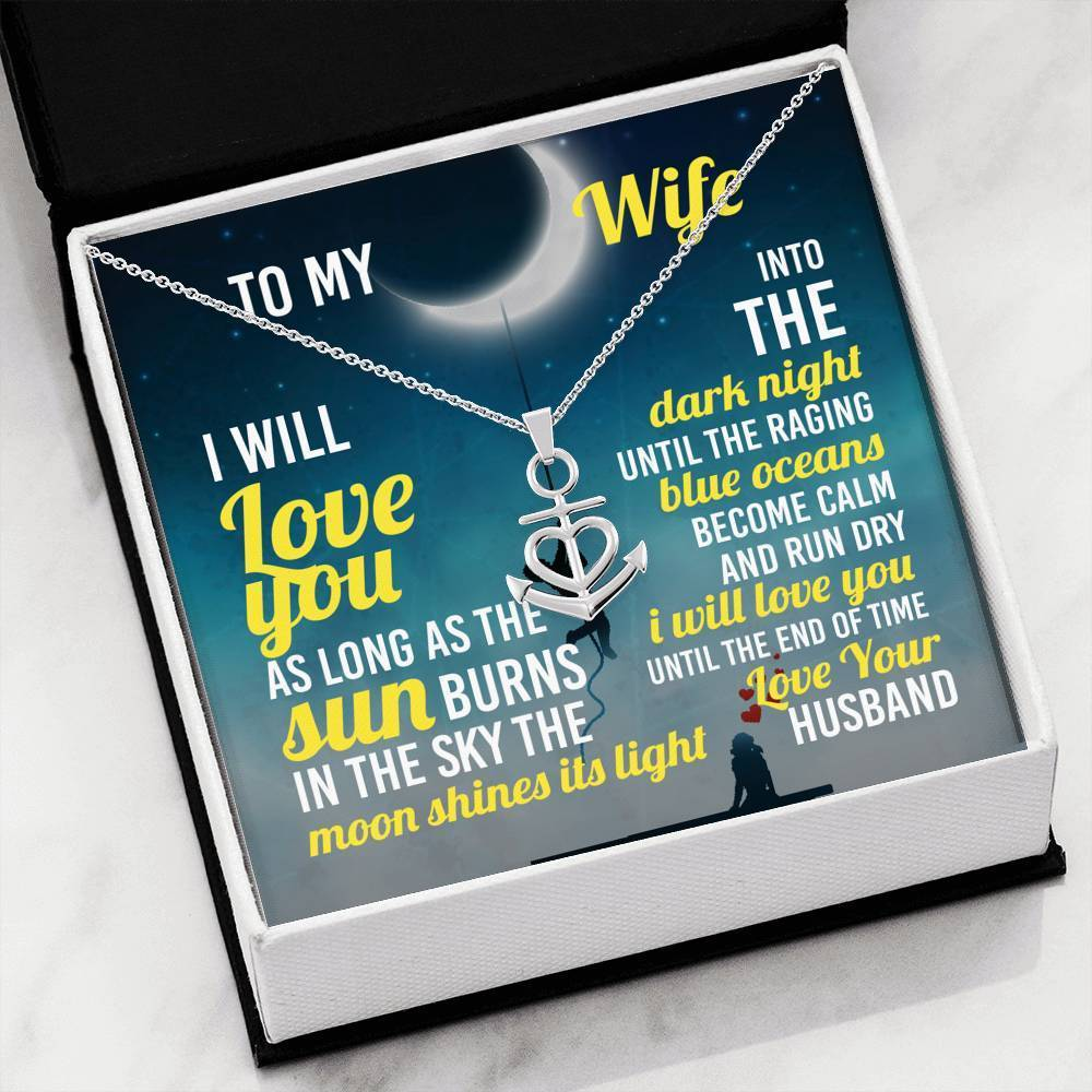 ShineOn Fulfillment Jewelry .316 Surgical Steel Necklace The End Of Time Anchor Necklace