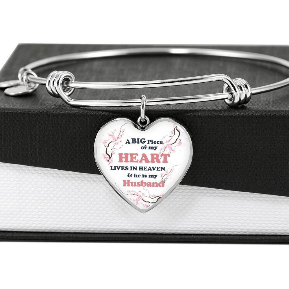 ShineOn Fulfillment Jewelry A Big Piece Of My Heart Lives In Heaven Bangle