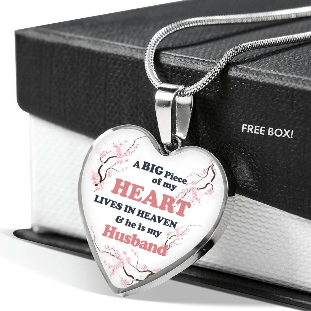 ShineOn Fulfillment Jewelry A Big Piece Of My Heart Lives In Heaven Necklace