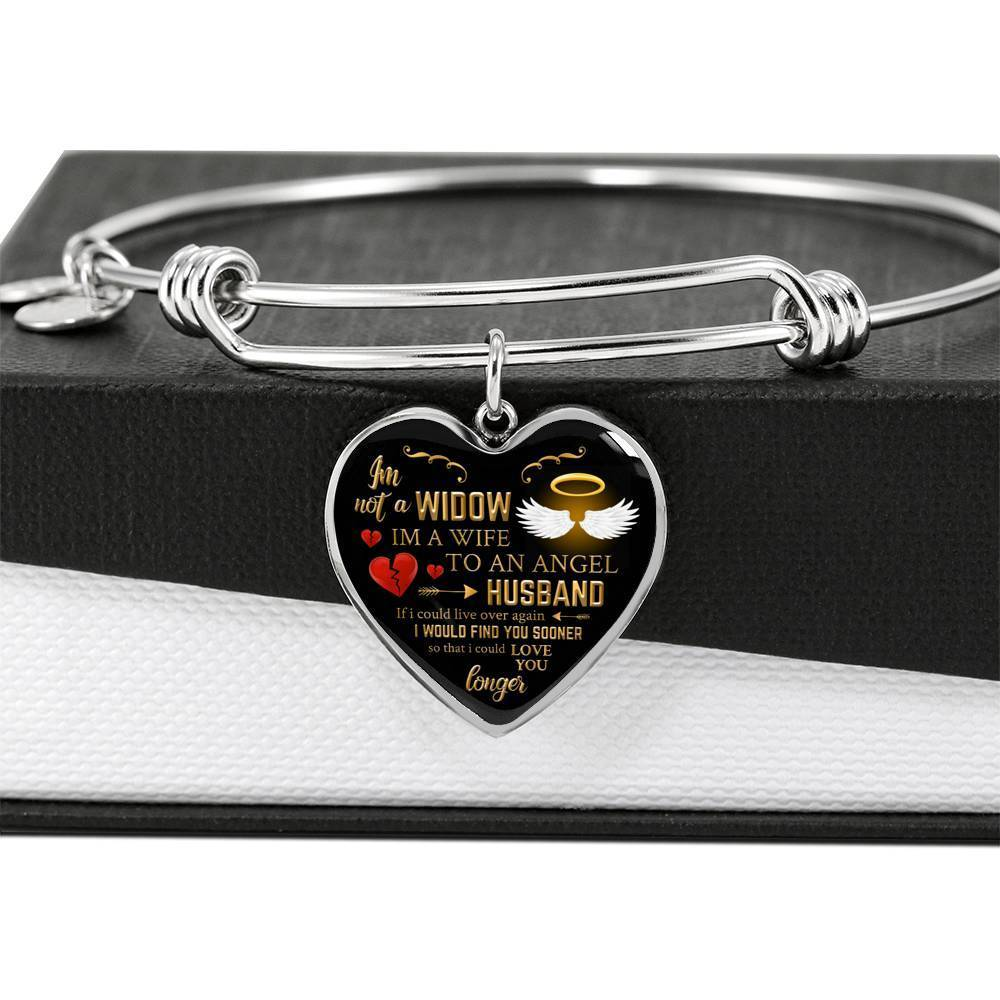 ShineOn Fulfillment Jewelry Angel Husband Bangle