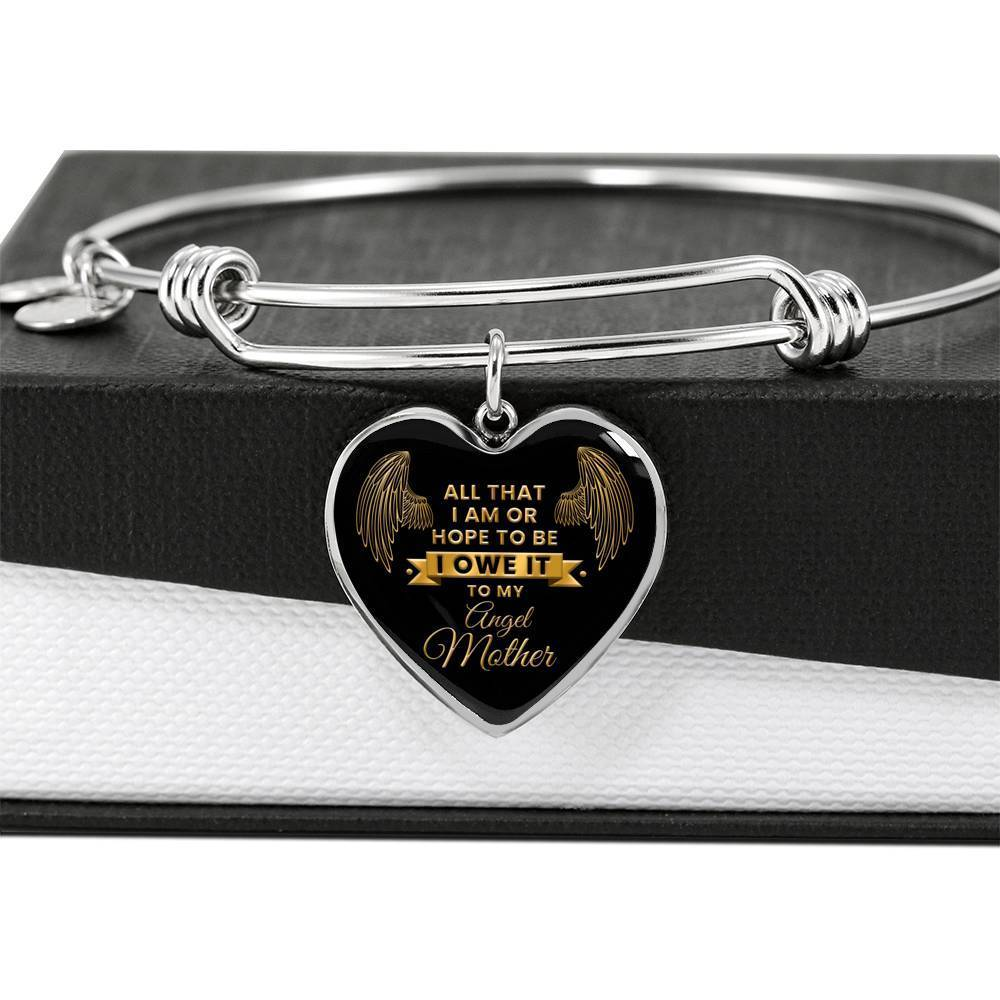ShineOn Fulfillment Jewelry Angel Mother Bangle
