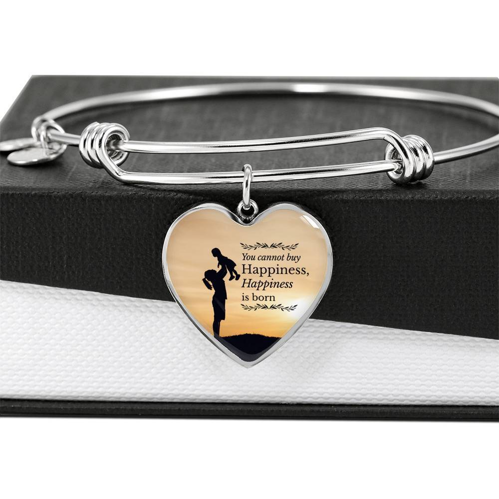 ShineOn Fulfillment Jewelry Happiness Is Born Bangle