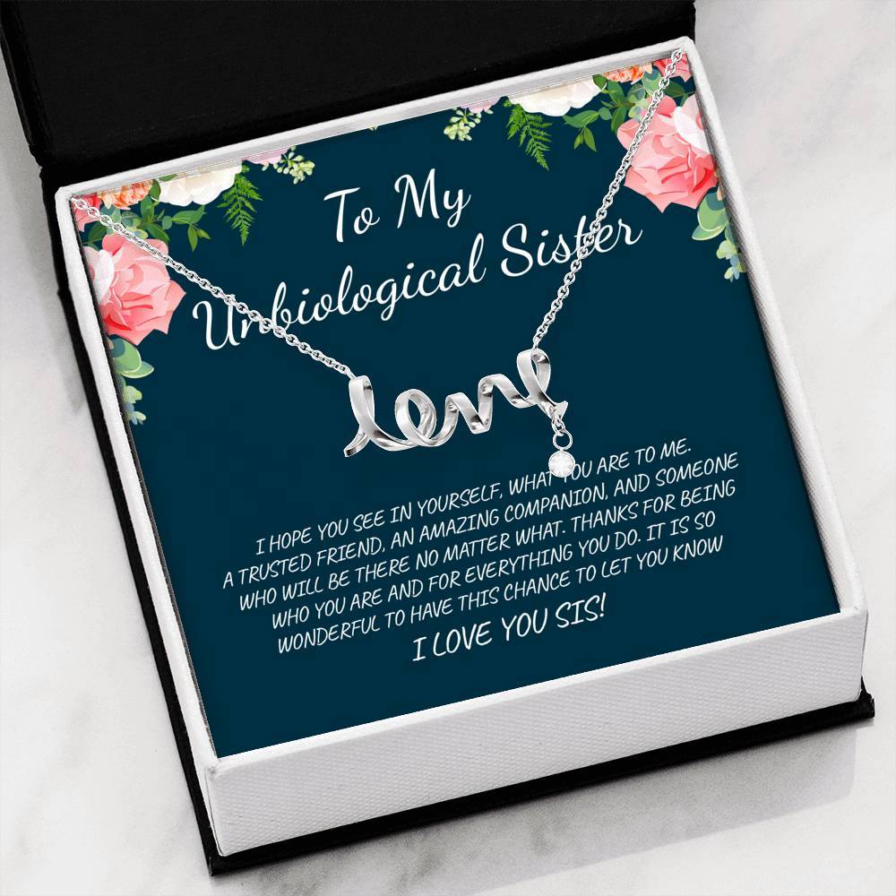 ShineOn Fulfillment Jewelry High Polished .316 Surgical Steel Scripted Love Amazing Companion Scripted Necklace