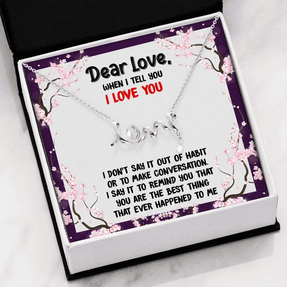 Best Love Ever Scripted Necklace