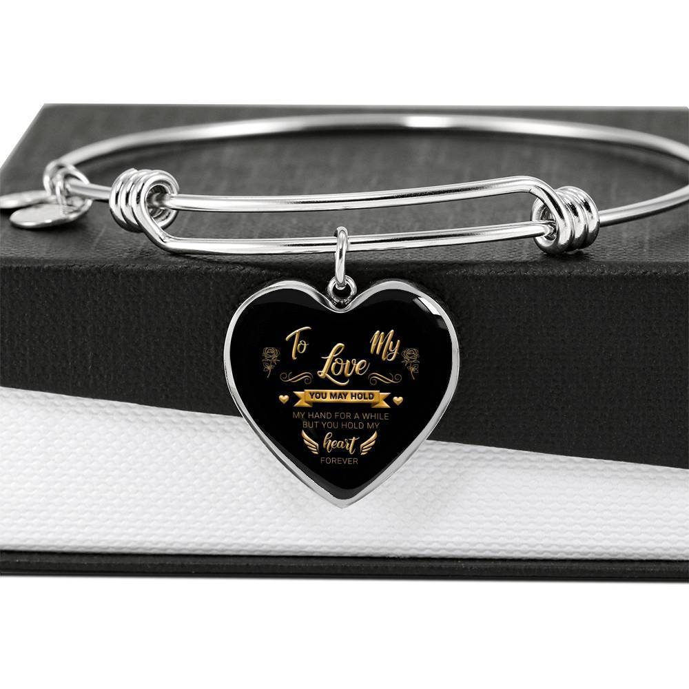 ShineOn Fulfillment Jewelry Hold My Heart Bangle