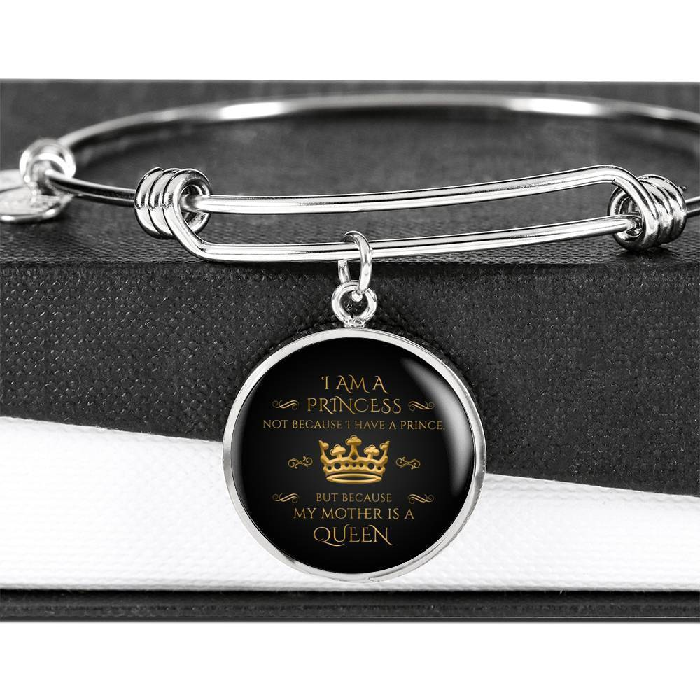 ShineOn Fulfillment Jewelry I Am A Princess Bangle
