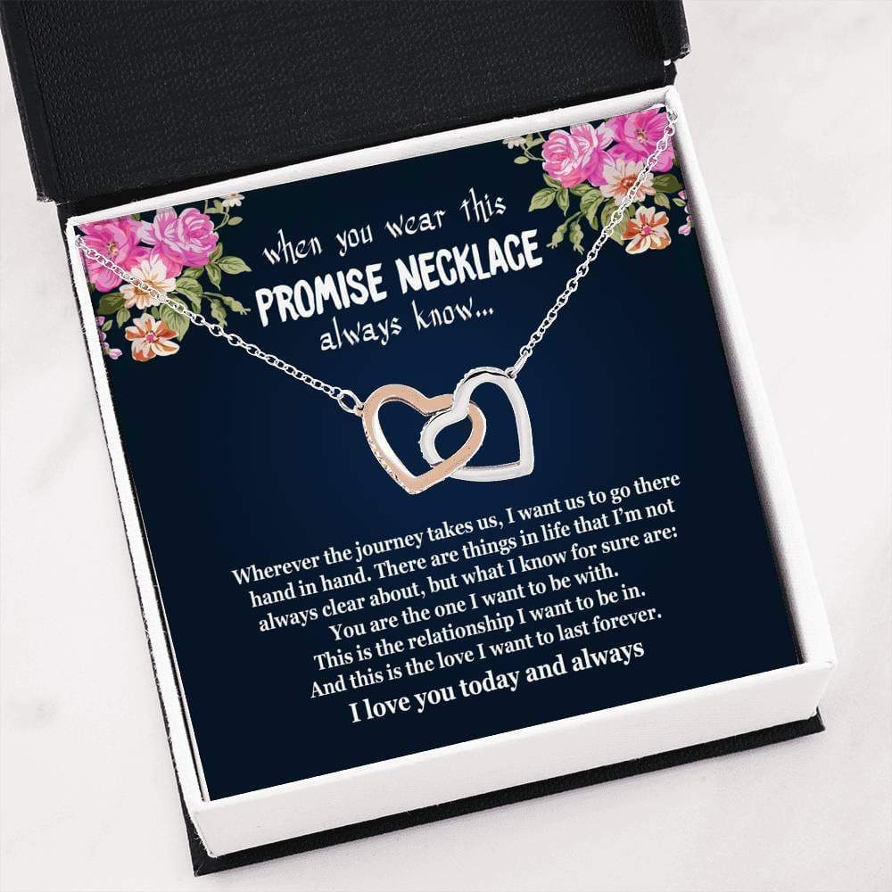 ShineOn Fulfillment Jewelry Interlocking Heart Necklace Always Love You Interlocking Necklace
