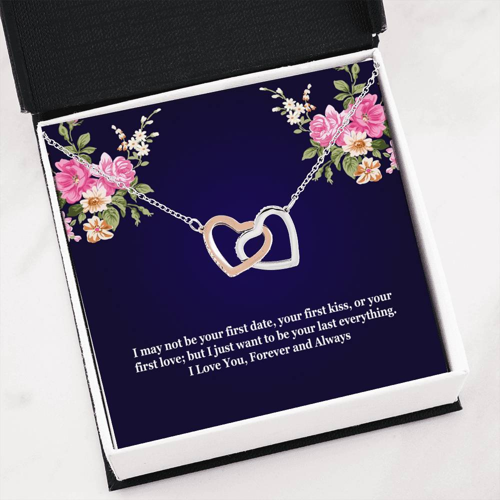 ShineOn Fulfillment Jewelry Interlocking Heart Necklace Your Last Everything Interlocking Necklace