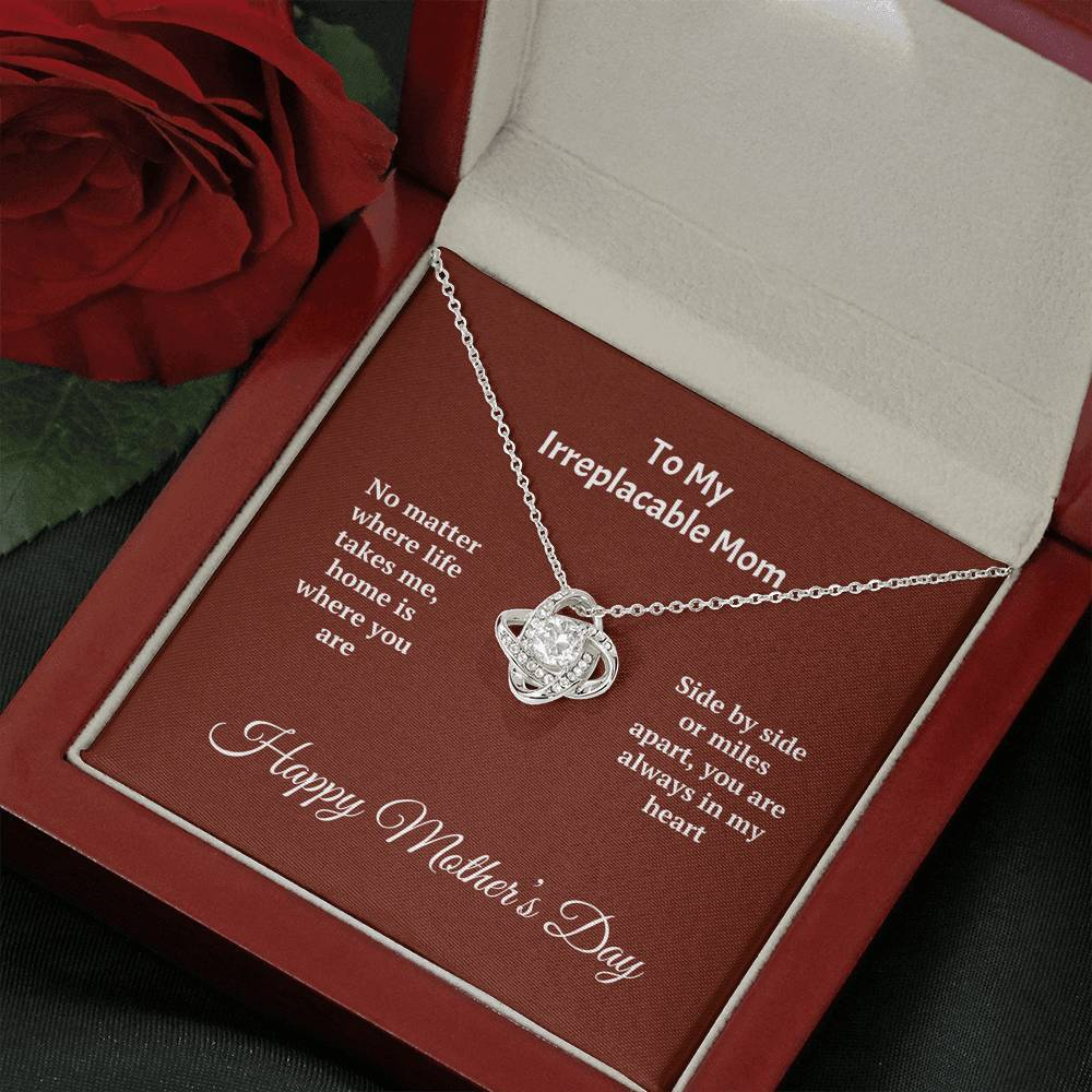 ShineOn Fulfillment Jewelry Mahogany Style Luxury Box Miles Apart Love Knot Necklace