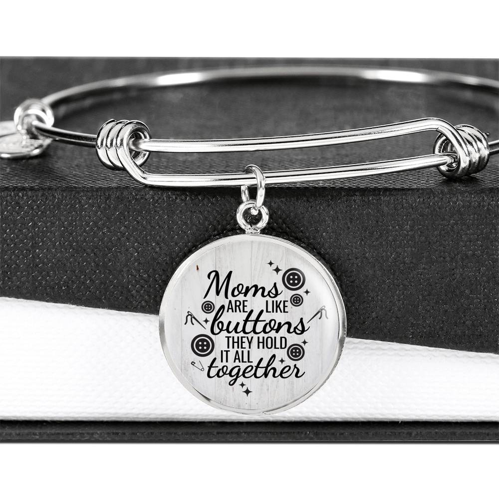 ShineOn Fulfillment Jewelry Moms Are Like Buttons Bangle
