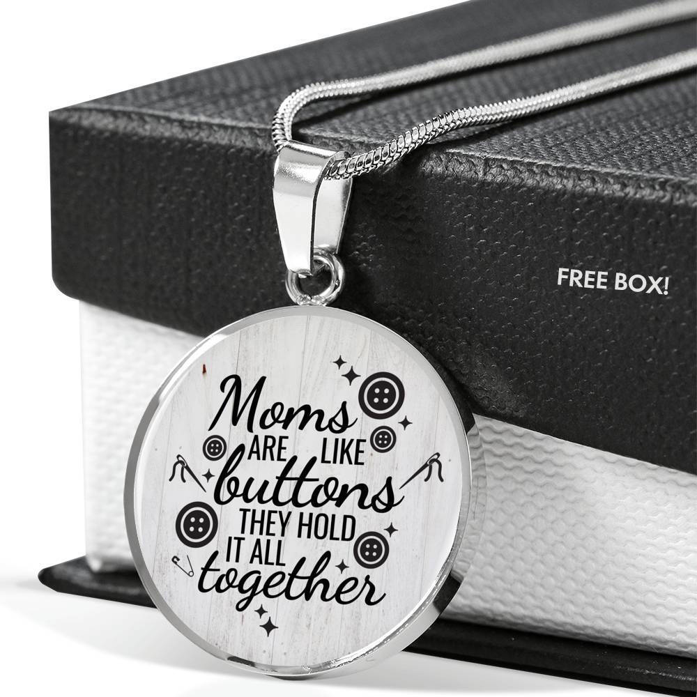 ShineOn Fulfillment Jewelry Moms Are Like Buttons Necklace