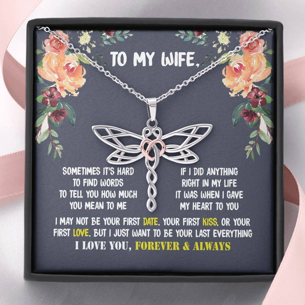 ShineOn Fulfillment Jewelry (New Arrival) You're My Everything Dragonfly Necklace Gift For Wife