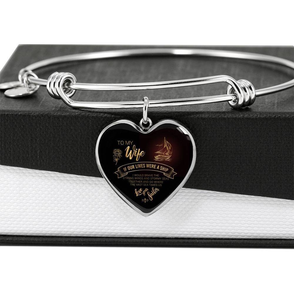 ShineOn Fulfillment Jewelry Ship Life Bangle