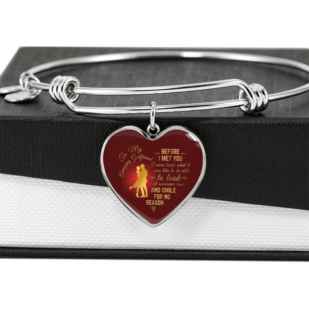 ShineOn Fulfillment Jewelry Smile For No Reason Bangle
