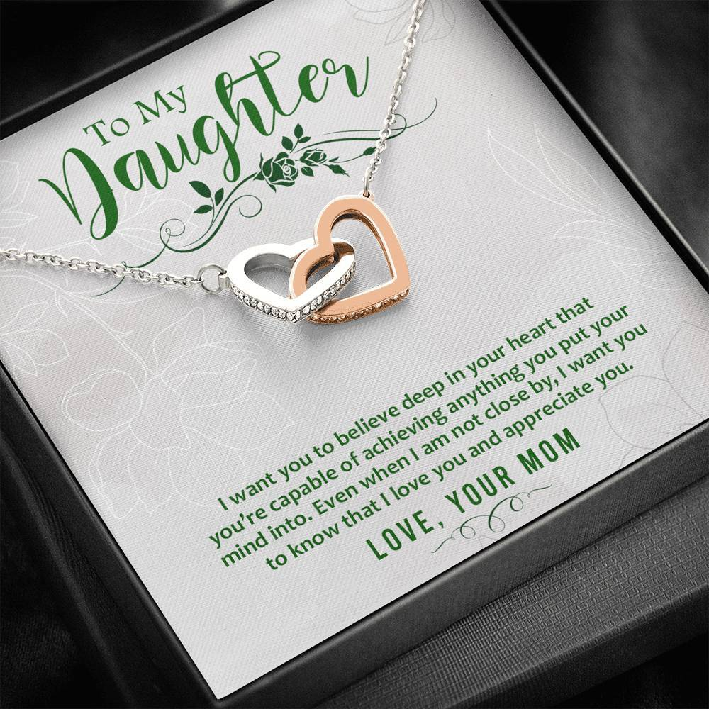 ShineOn Fulfillment Jewelry Standard Box I Want You To Believe Interlocking Necklace