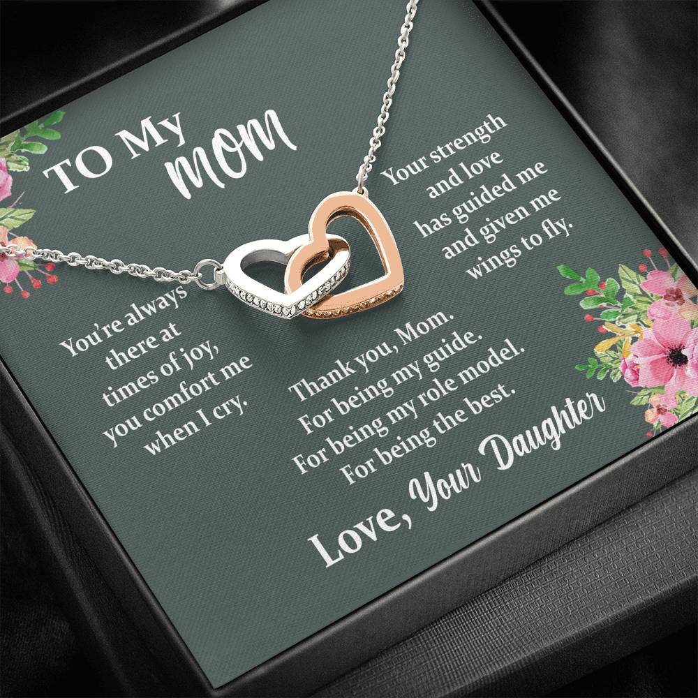 ShineOn Fulfillment Jewelry Standard Box Mom You're Always There Interlocking Necklace