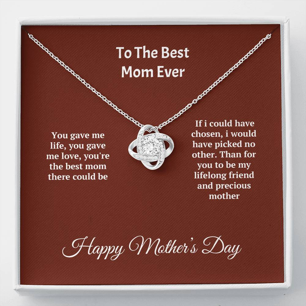 ShineOn Fulfillment Jewelry Standard Box Precious Mother Love Knot Necklace