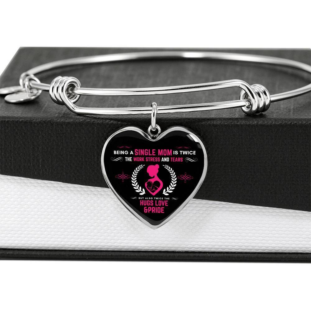 ShineOn Fulfillment Jewelry Twice The Love Bangle