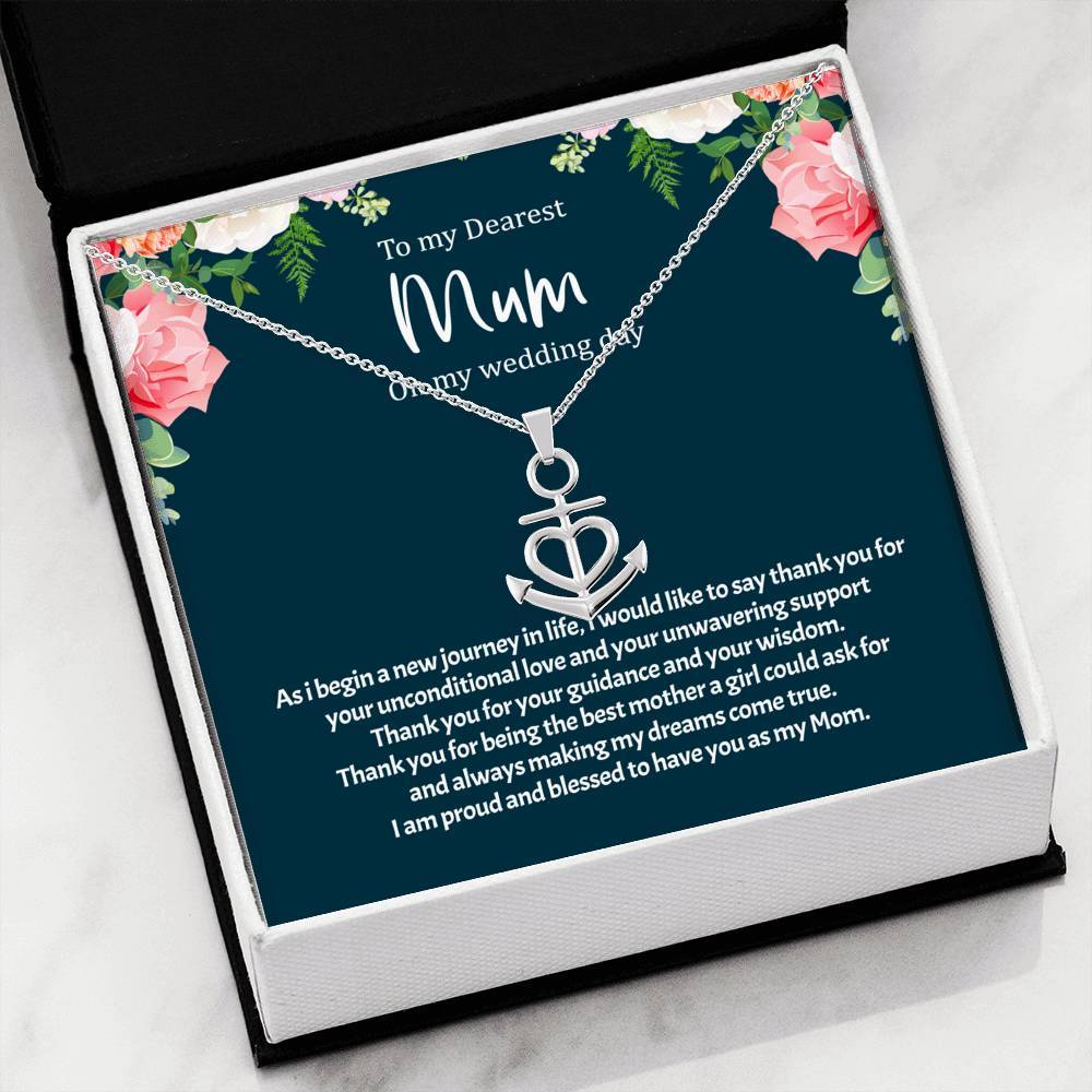 ShineOn Fulfillment Jewelry Unconditional Love Anchor Necklace
