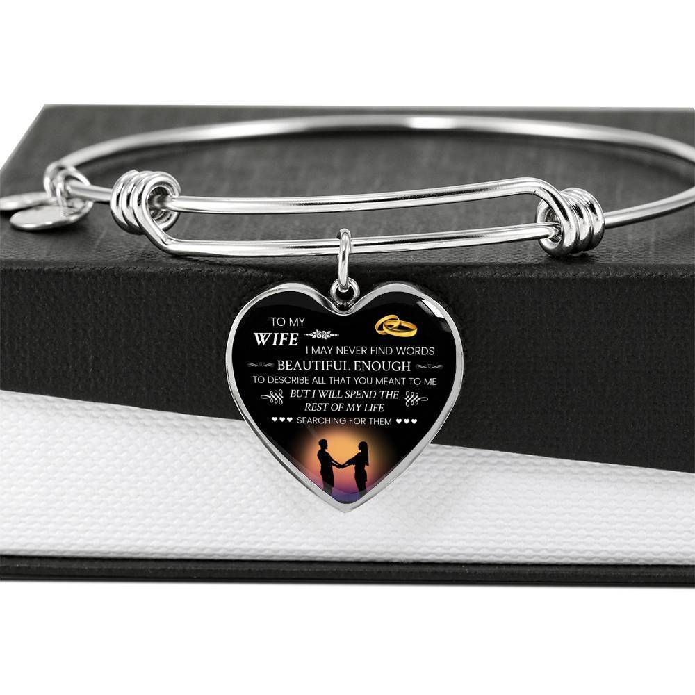 ShineOn Fulfillment Jewelry Words Beautiful Enough Bangle