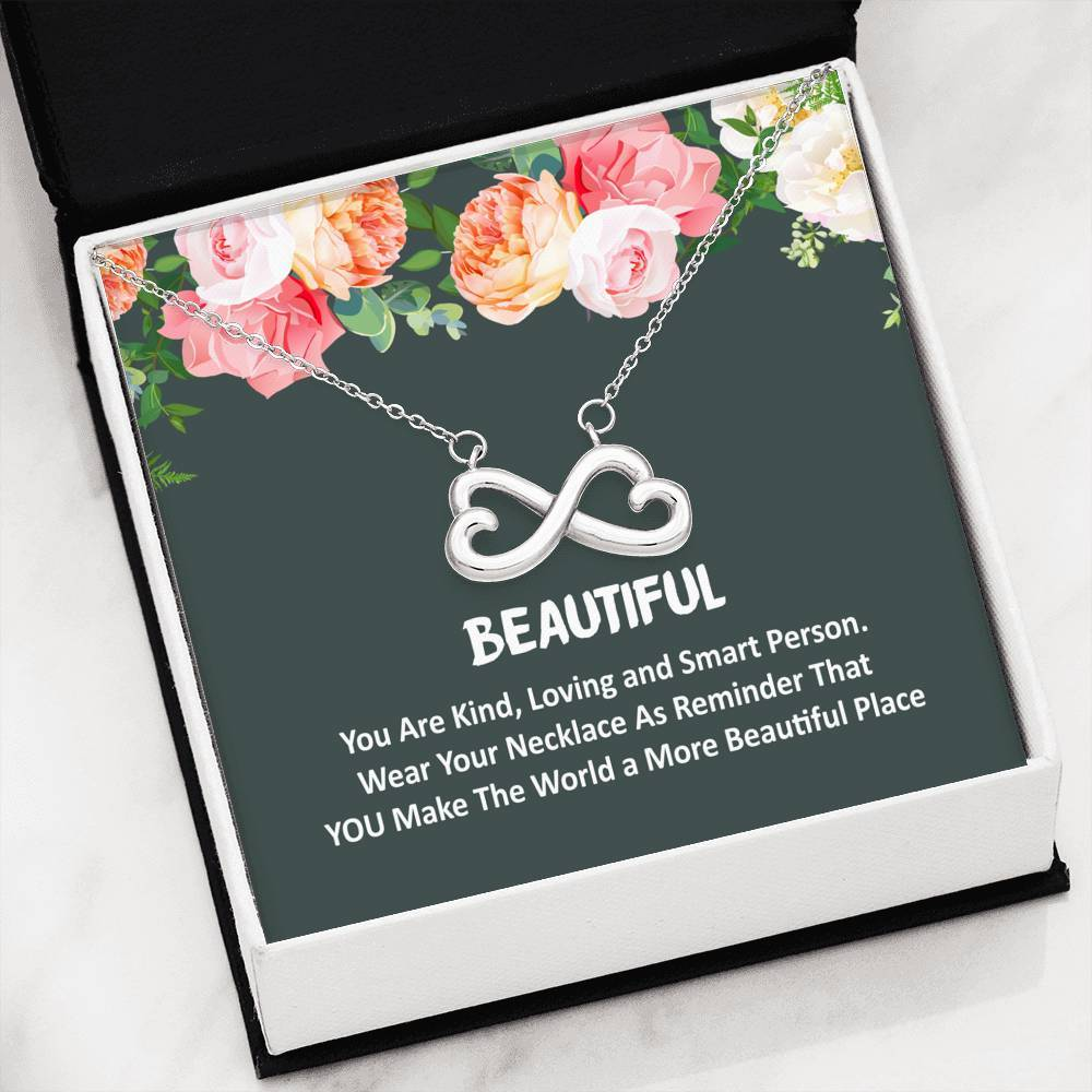 ShineOn Fulfillment Jewelry You're Beautiful Infinity Necklace