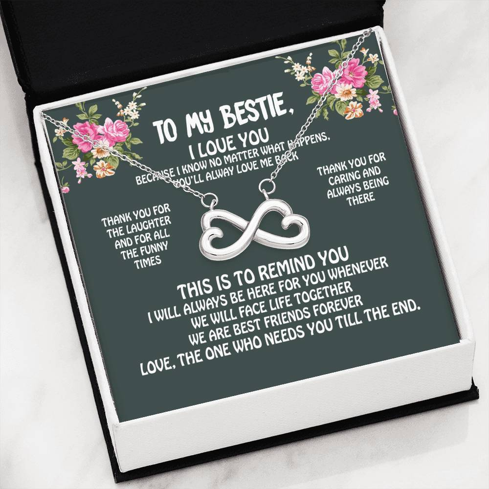 ShineOn Fulfillment Jewelry You're My Bestie Infinity Necklace