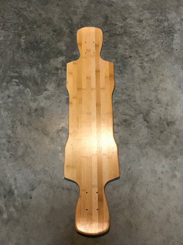 38x9 Bamboo Maple Longboard Deck with Kick-tails