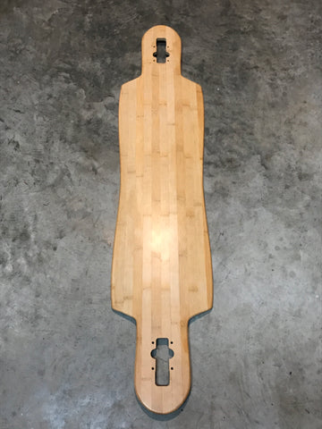 42.5x9.6 Bamboo Drop Through Longboard Deck
