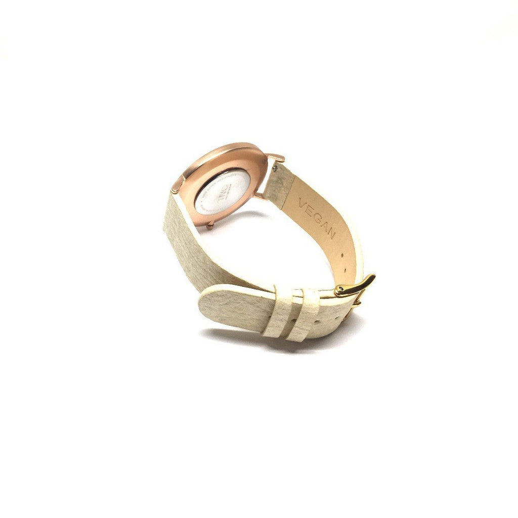 36mm Rose Gold | Pinatex Band (Natural)