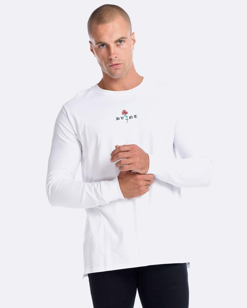 Barbed Rose Long Sleeve - White