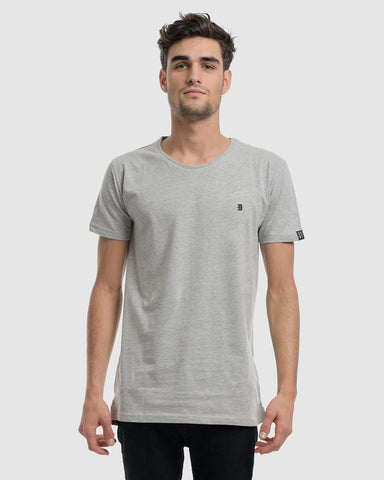 Classic Embroidery Tee - Grey Marle