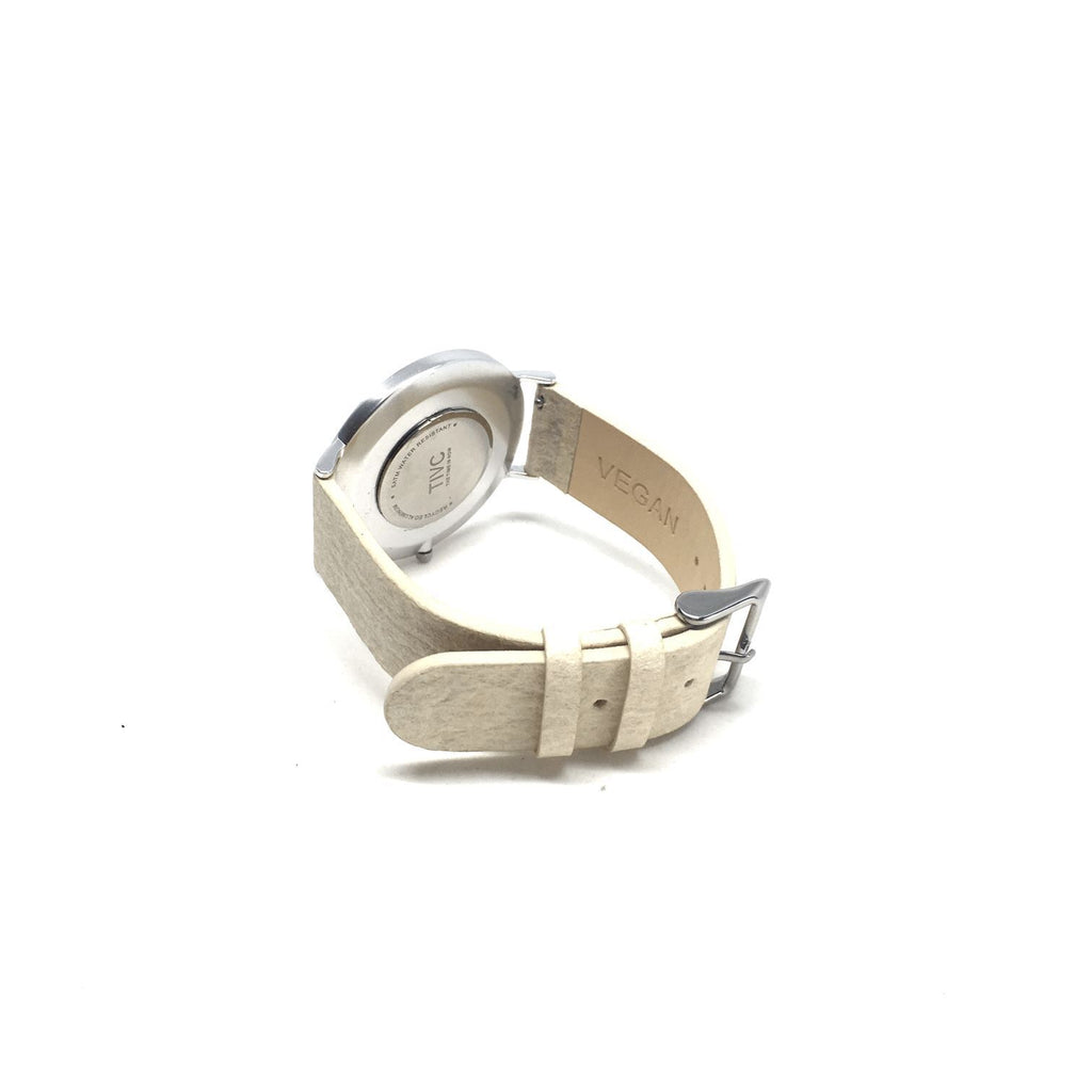 36mm Silver | Pinatex Band (Natural