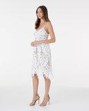 Lonely Together Dress - White