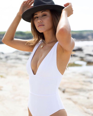 Kahala One piece Ribbed White