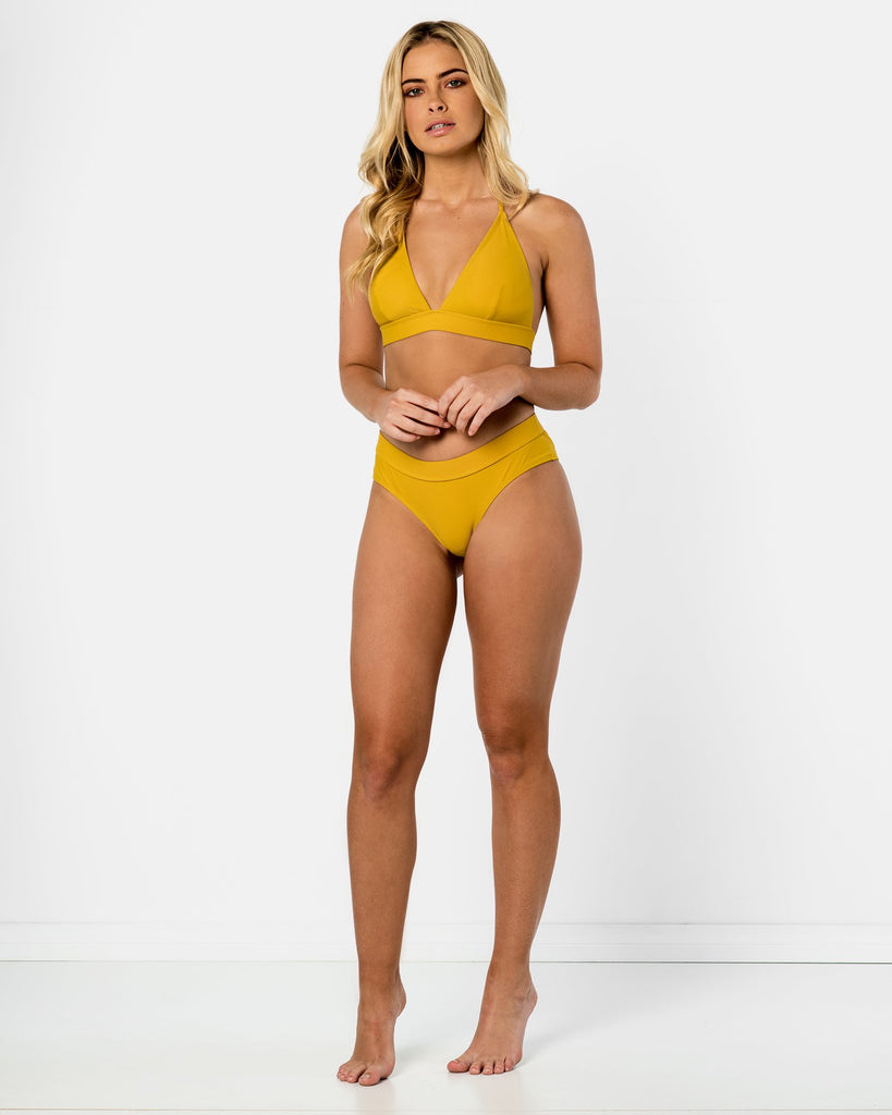 Ios - Yellow Pineapple Halter Bikini