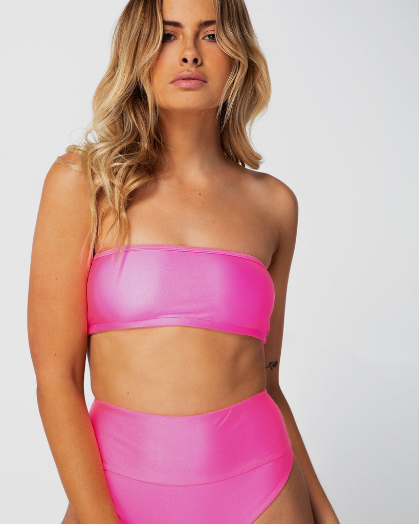 Bahamas - Pink Grapefruit Bandeau Top