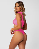 Tulum - Pink Grapefruit Shouldered Top