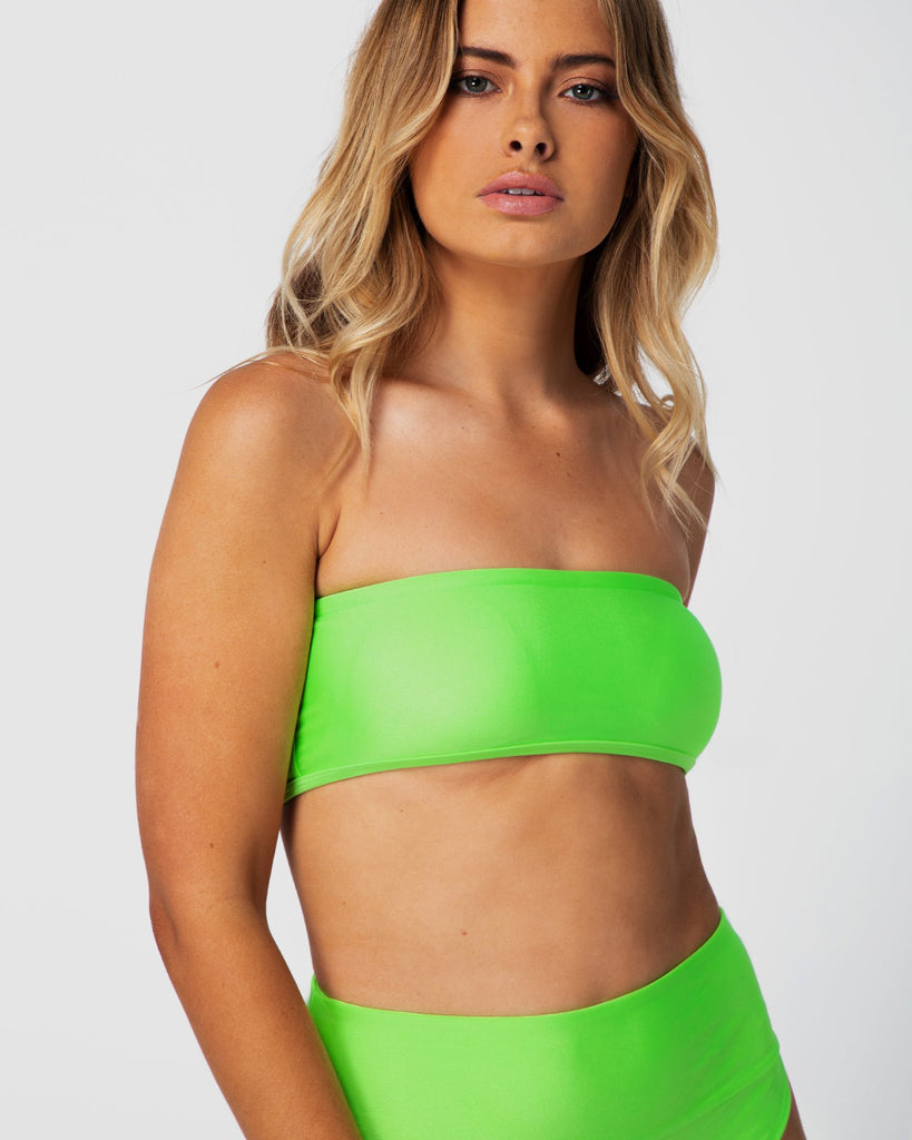 Bahamas - Lime Green Bandeau Top