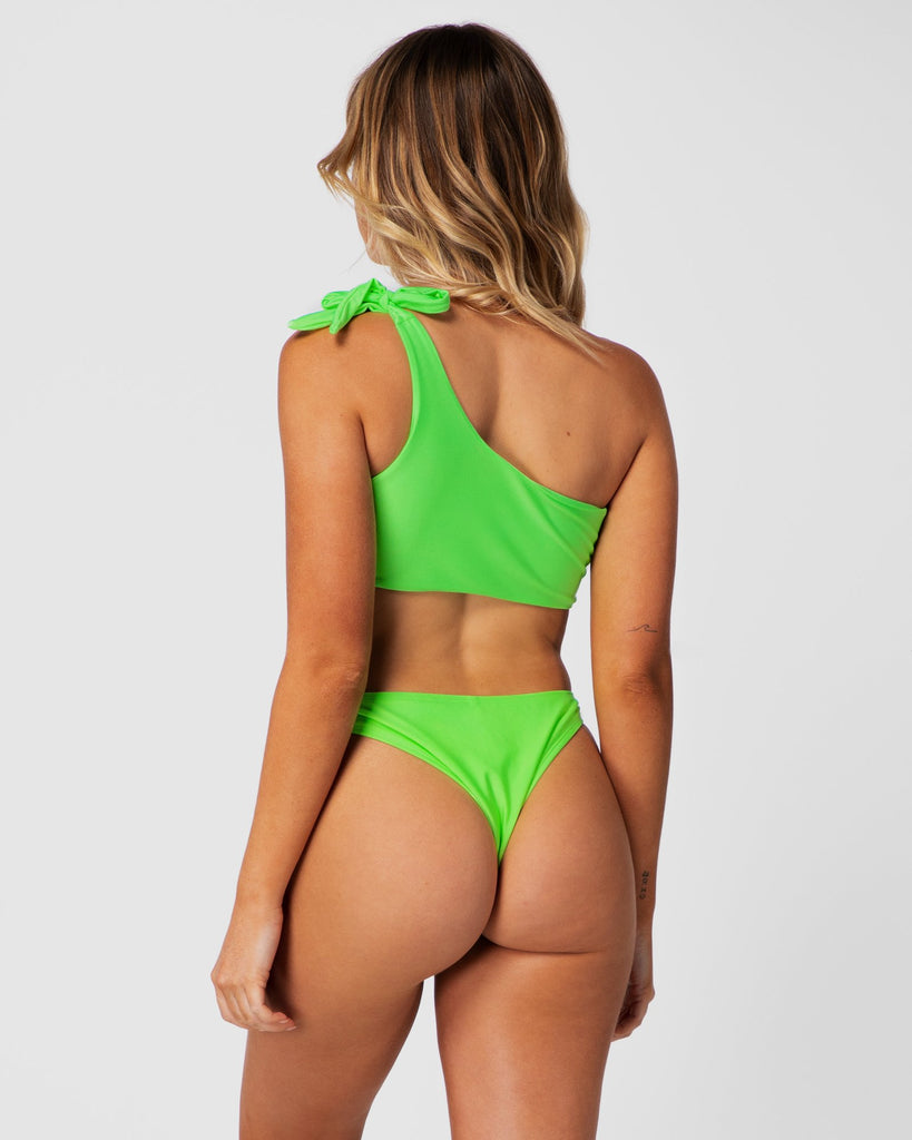 Tulum - Lime Green Shouldered Top